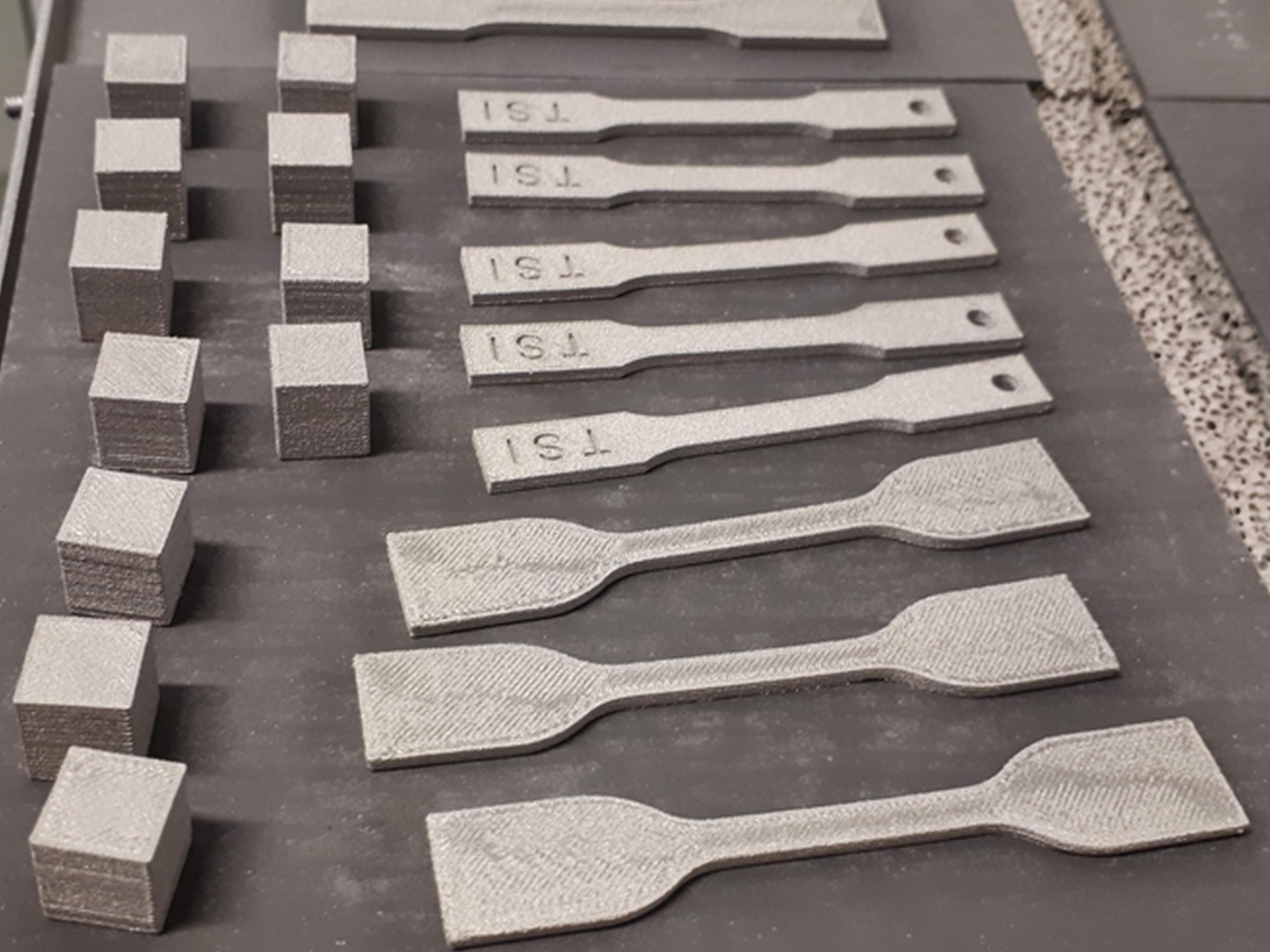 3D printed Test specimens